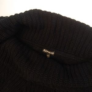 Express Womens Sweater Size MEDIUM Black Cowl Neck